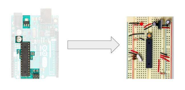 Arduino to Breadboard