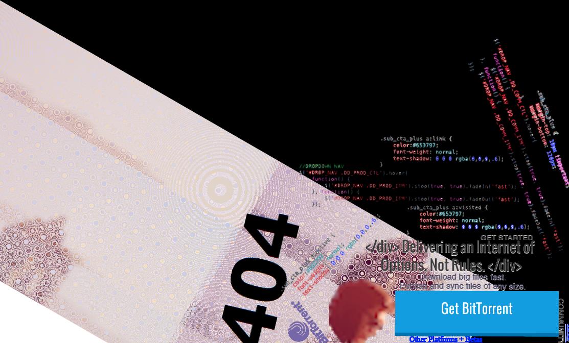 BitTorrent 404 Page