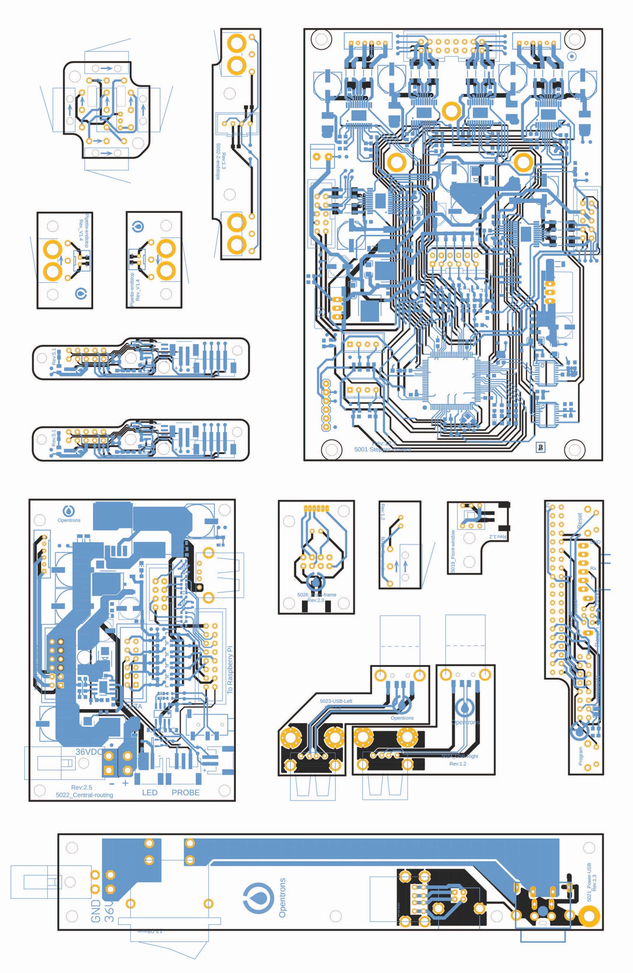 OT2 PCBs Artwork